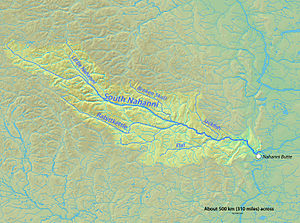 South Nahanni River - Map of the South Nahanni River