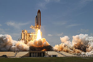 STS-132 - Space Shuttle Atlantis launches from Kennedy Space Center, 14 May 2010.
