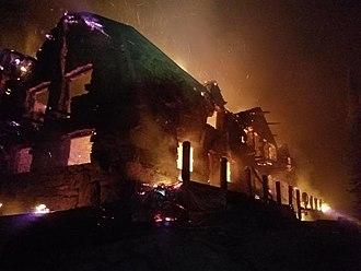 Sprague Fire - Sperry Chalet on fire on August 31st