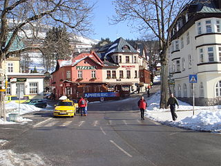 Špindlerův Mlýn Town in Hradec Králové, Czech Republic