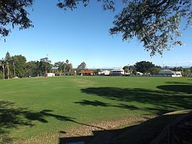Sports oval at Ipswich Grammar School in Woodend, Queensland.jpg