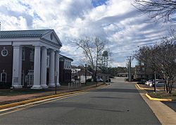 A view along Judicial Center Lane in Spotsylvania Courthouse