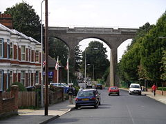 Railway viaduct over Spring Road, Ipswich