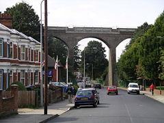 Railway viaduct over Spring Road, Ipswich