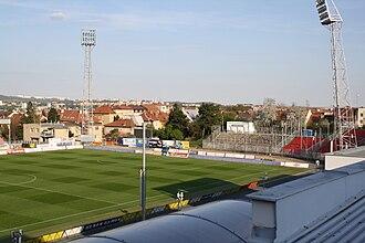 Městský fotbalový stadion Srbská - Image: Srbská stadium overview in Brno, Brno city District