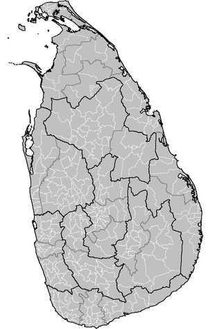 Administrative divisions of Sri Lanka - A map of all Sri Lankan Provinces, Districts, and Divisional Secretary's Division.