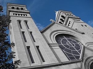 St. Vincent de Paul Church (Chicago) - Facade of St. Vincent de Paul Church