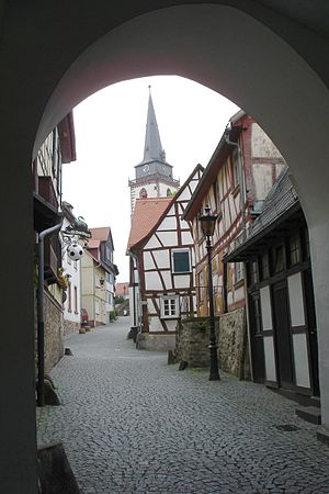 Oberursel (Taunus) - Footpath from market place to St Ursula