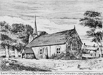 St Mary's Church, Betws Gwerful Goch - Image: St Mary's Church, Betws Douglas