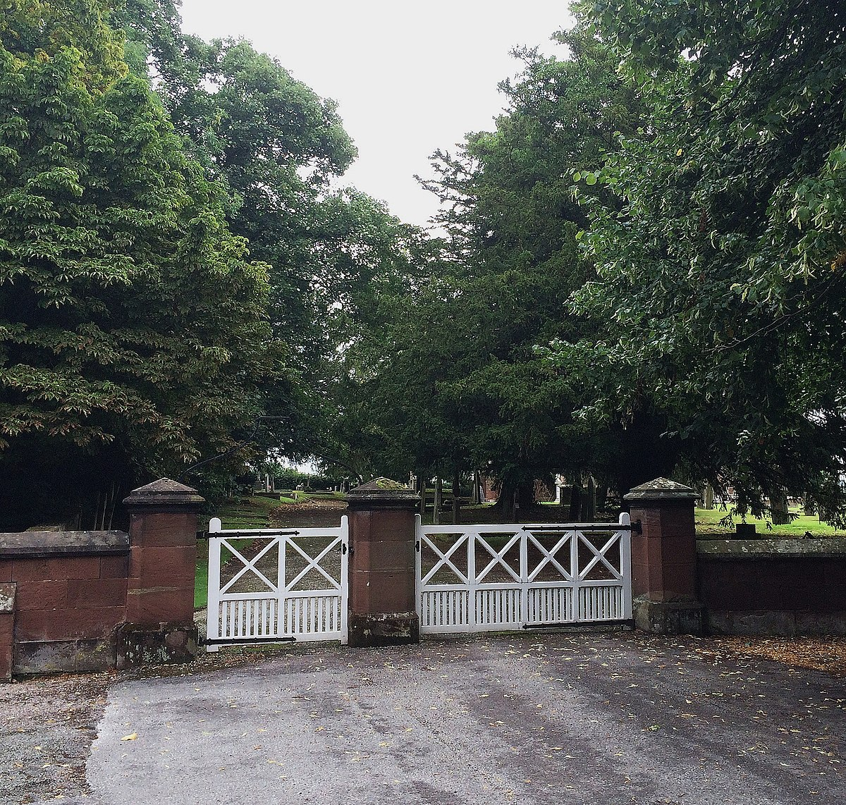 St Mary's Church Eccleston, Old Churchyard - gate.JPG