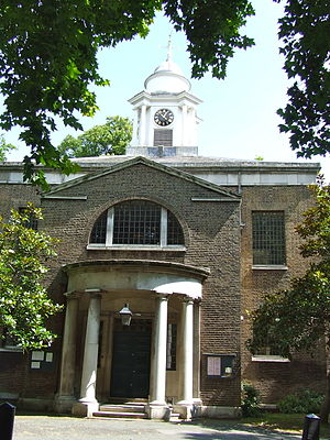 St Mary on Paddington Green Church - Image: St Mary on Paddington Green Church side entrance