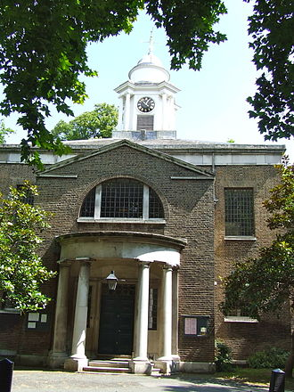 St Mary on Paddington Green Church - Image: St Mary on Paddington Green Church side entrance