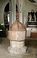St Peter, Babraham, Cambridgeshire - Font - geograph.org.uk - 333987.jpg