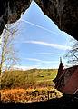 St Wendel zum Stein, eine spätgotische Kapelle wunderschön in die Felslandschaft an der Jagst integriert. 03.jpg