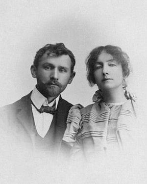 Stanisław Przybyszewski - Dagny and Stanisław Przybyszewski in 1897/1898