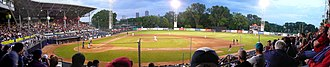 Stade Canac - Game between the Québec Capitales and the New Jersey Jackals at Stade Municipal
