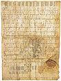 Stadsrechten Utrecht oorkonde 1122 bron Utrechts Archief.jpg