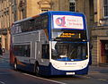Stagecoach in Newcastle bus 19433 Alexander Dennis Trident 2 Enviro 400 NK58 FMV in Newcastle route 1 branding 3 April 2009 pic 2.JPG