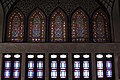 Stained glass work at the Tabātabāei House, Kashan.jpg