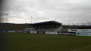 Stamford A.F.C. - stamford fc covered terrace end stand