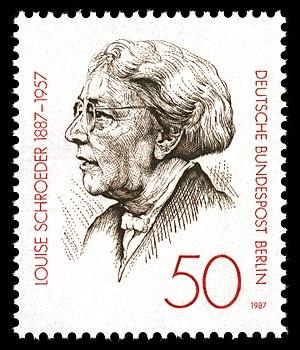 Louise Schroeder - Postage stamp image of Louise Schroeder (1987)