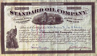 Standard Oil - Share of the Standard Oil Company, issued 1 May 1878