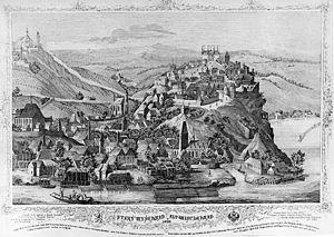 Battle of Vyšehrad - Image: Starý Vyšehrad, 1420