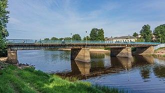 Polist River - The Polist River in Staraya Russa