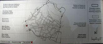 Vratnik (Sarajevo) - Map of the old Vratnik fort.