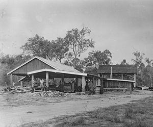 Aurukun, Queensland - Image: State Lib Qld 1 389873 Aurukun sawmill, North Queensland, ca. 1950