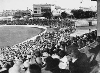 George Headley - Brisbane Cricket Ground in the 1930s, where Headley scored West Indies' first century against Australia, after altering his batting style
