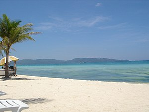 Boracay's White Beach. My favorite spot on God...