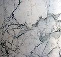 Statuarietto White Marble (Apuan Marble Formation, Tertiary metamorphism of Jurassic limestones; Carrara region, Italy) 2 (41756462202).jpg