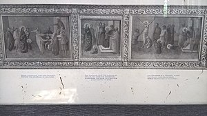 Cyricus and Julitta - Print of St Cyricus in Lacock, Wiltshire.