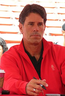 Steve Bono at 49ers Family Day 2009 1.JPG