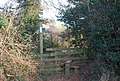 Stile where path from Shortwood Common joins Hayeswood Lane - geograph.org.uk - 1112026.jpg