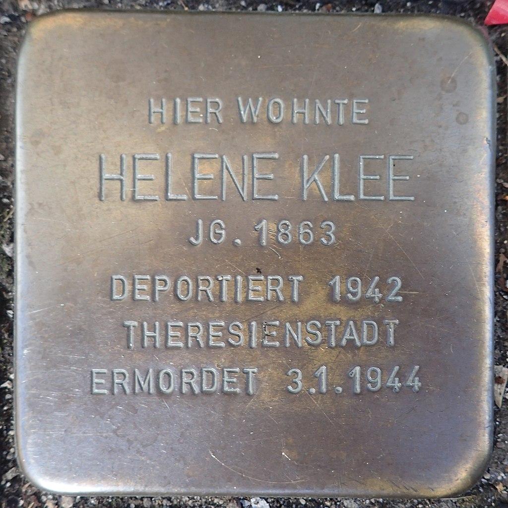 Stolperstein Andernach Friedrichstraße 6 Helene Klee