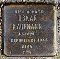 Stolperstein Dieffenbachstr 45 (Kreuzb) Oskar Kaufmann.jpg