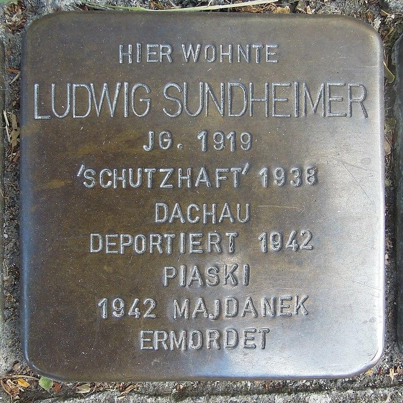 Stolperstein für Ludwig Sundheimer