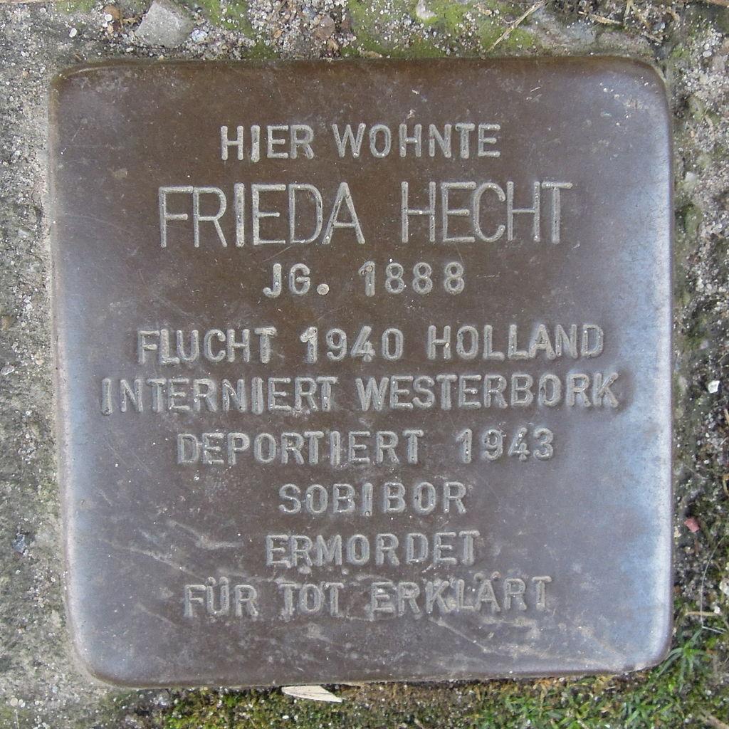 Stolperstein Herford Brüderstraße 3 Frieda Hecht