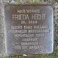 Stolperstein Herford Brüderstraße 3 Frieda Hecht.JPG