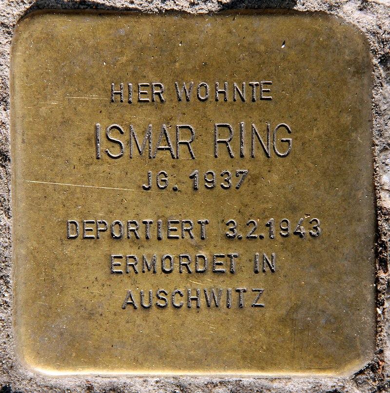 Stolperstein Schönhauser Allee 175 (Prenz) Ismar Ring.jpg