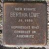 Stolperstein für Bertha Löwe