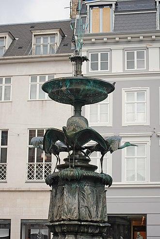Stork Fountain - The fountain's pedestal