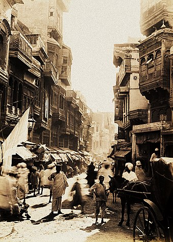 The Shah Alami area of Lahore's Walled City in 1890 Street scene of Lahore, 1890s.jpg