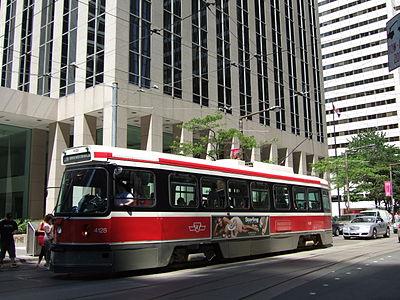 A TTC Streetcar.