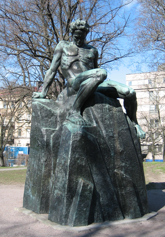 Памятник Стриндбергу работы Карла Эльда (1942) в Стокгольме