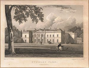 Studley Royal Park - Studley Park, Yorkshire, engraved by F. P. Hay after a drawing by J.P. Neale, c1820.