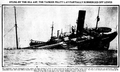 Stung by the Sea Asp the Tanker Herbert L. Pratt lay partially submerged off Lewes June 3 1918.png