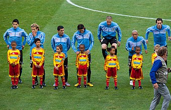 Suarez (left) and Diego Forlan at the 2010 FIFA World Cup in South Africa Suarez Forlan.jpg